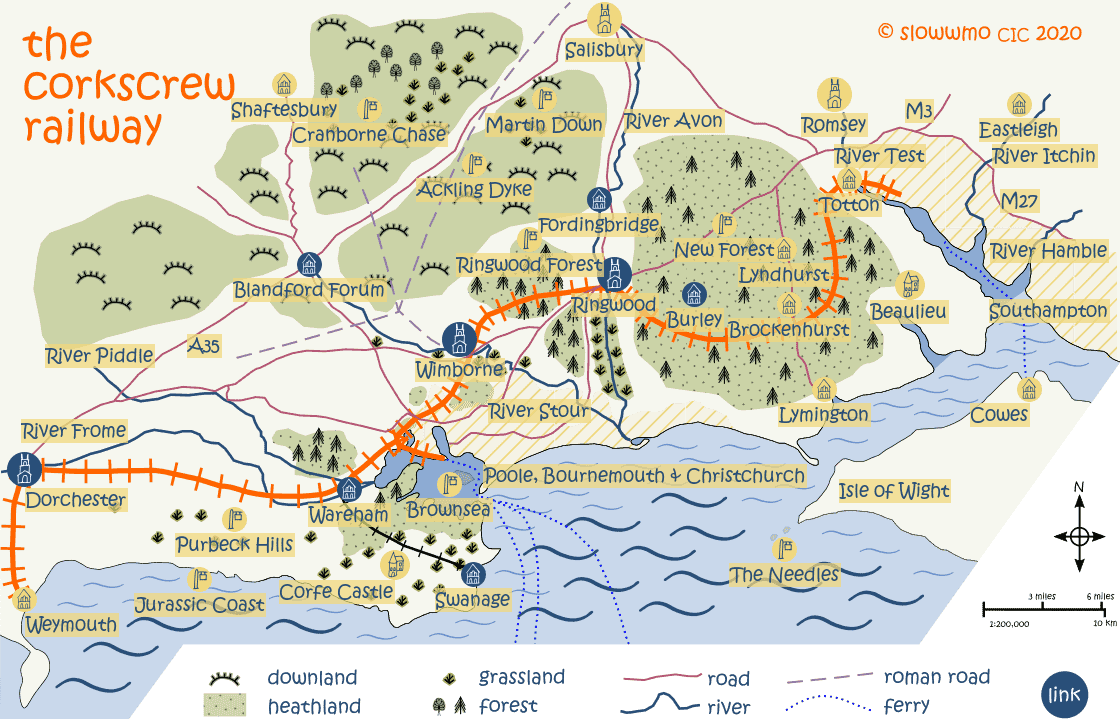 Corkscrew Map - home