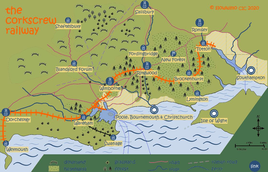 Corkscrew Map - venue