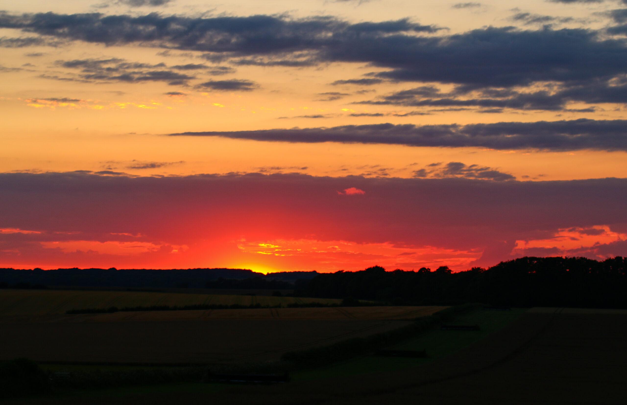 Sunset from Badbury Rings   Badbury Rings