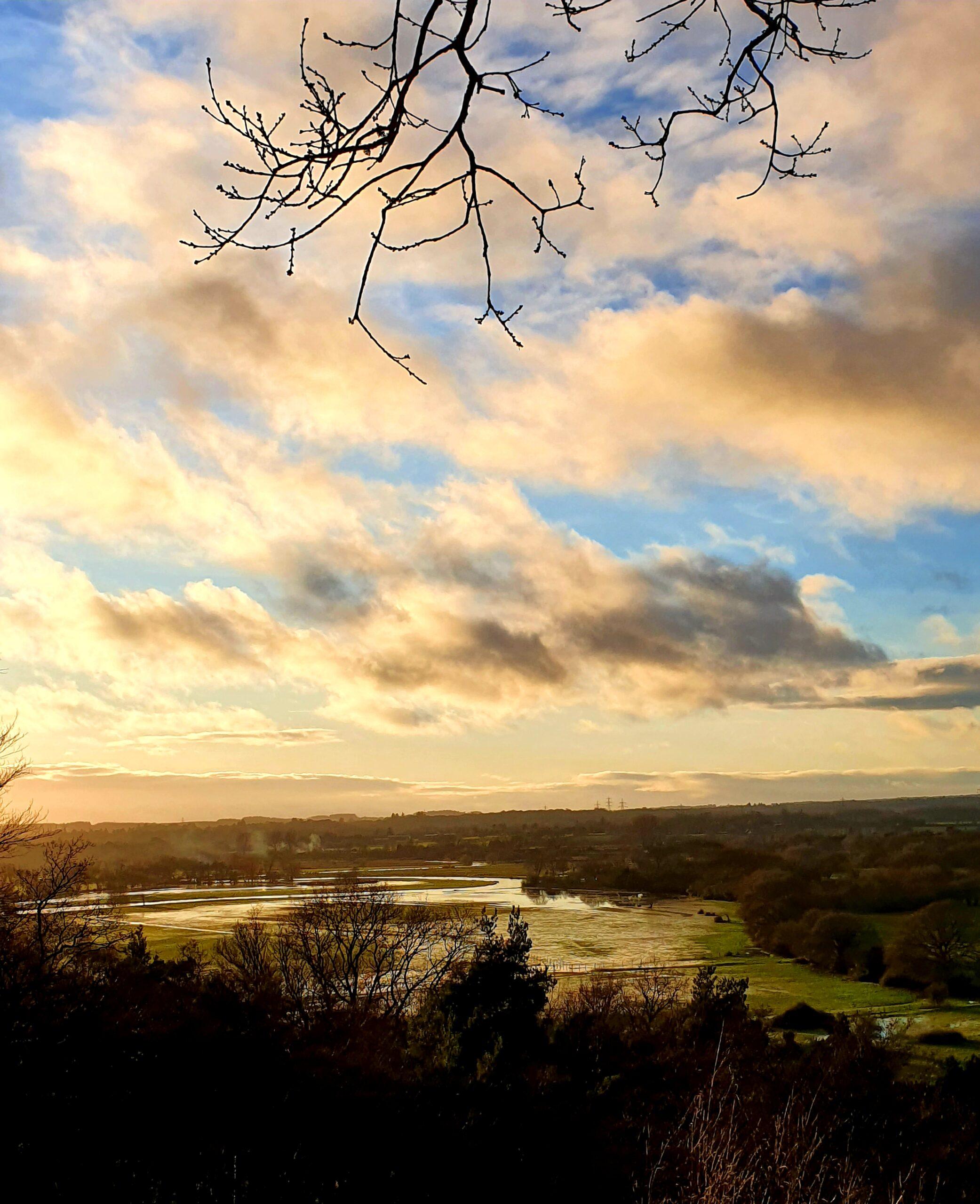 The River Avon from Castle Hill near Fordingbridge   The Avon Valley Path