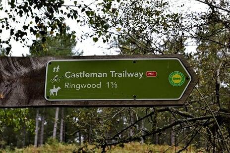 Trailway sign by Jo Donaldson | Castleman Trailway