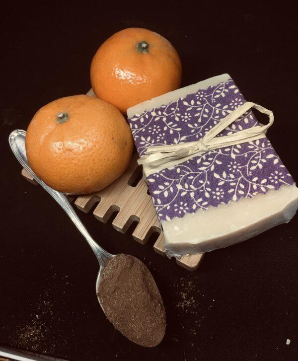 76A07C8D-DA39-4BD4-A71F-081356FEF5F9   Orange and cinnamon goatsmilk soap