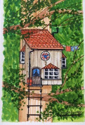 bird-box-cabin | Bird Box House Print