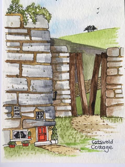 cotswold-cottage   Cotswold Cottage Print