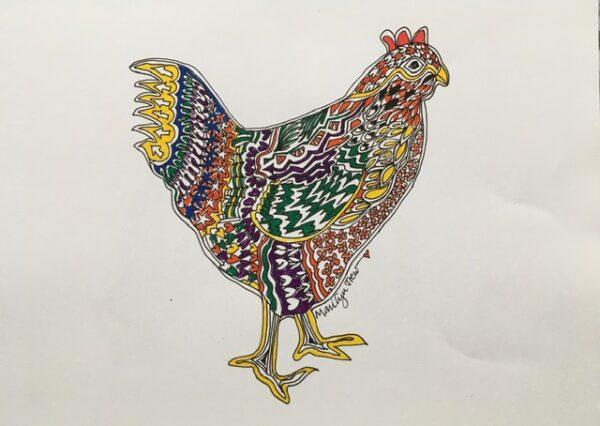 rainbow-hen | Rainbow Hen Print