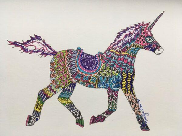 rainbow-unicorn | Rainbow Unicorn Print