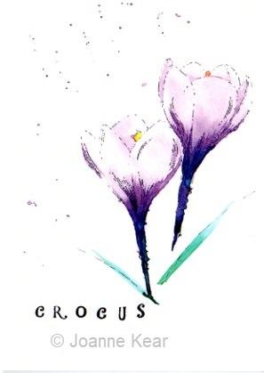 "Crocus 0221 | Greeting card ""Crocus"""