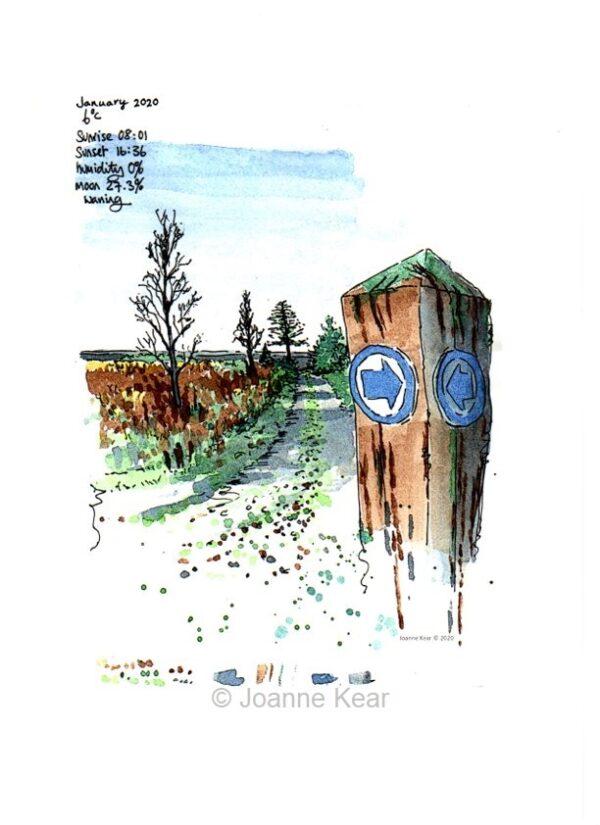 "Forest Walk 0121   Giclee print ""Forest Walk"""