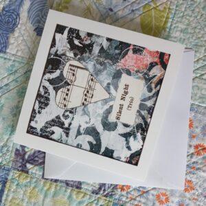 "Silen Night greeting card 0821 | Greeting card ""Silent Night"""