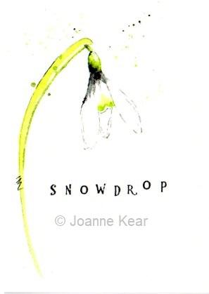 "Snowdrop 0121 | Greeting card ""Snowdrop"""