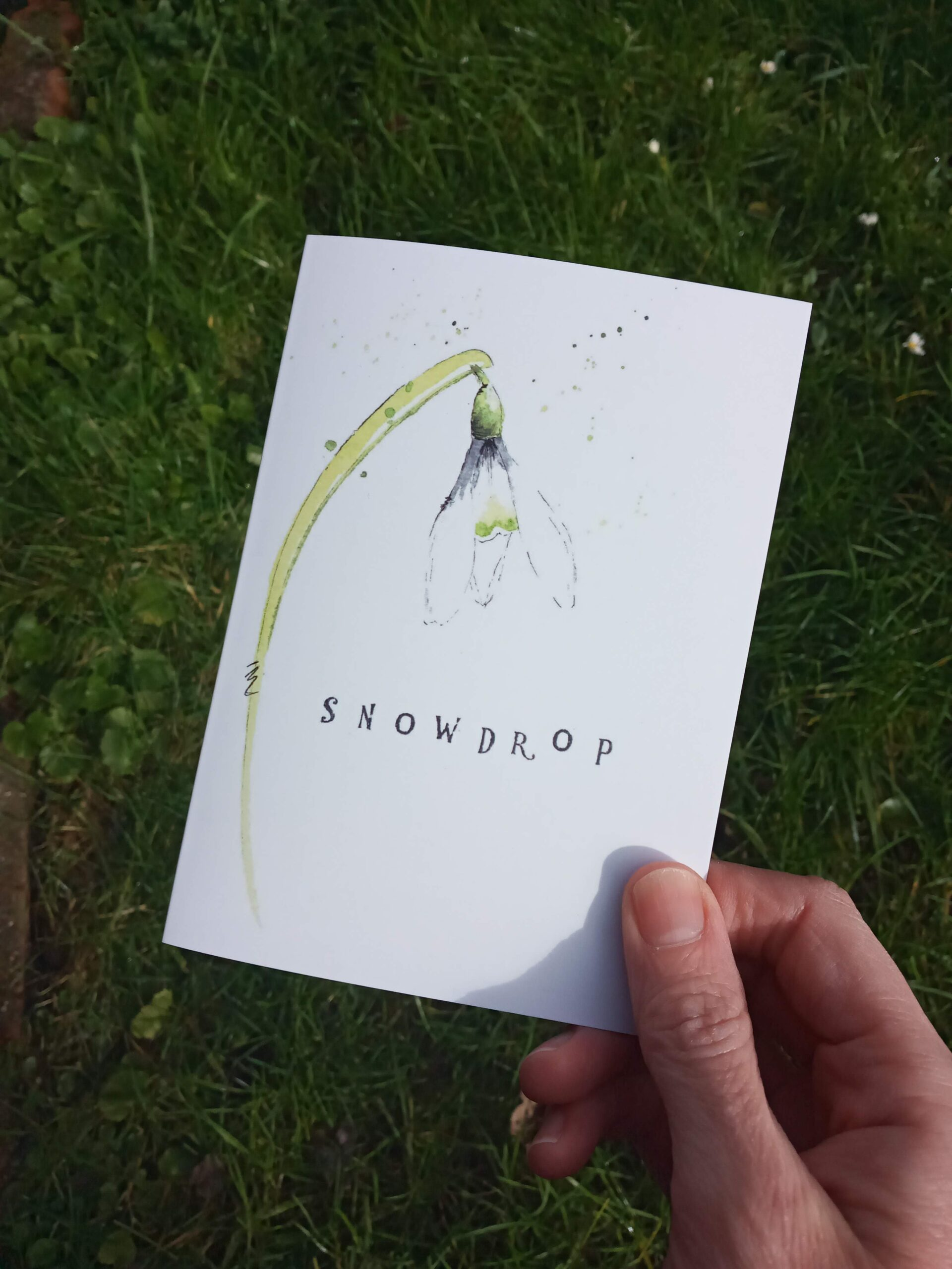 "snowdrop A6 greeting card 0121 | Greeting card ""Snowdrop"""